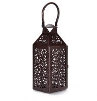 Scrafts Metal Antique Royal Look Medium Aluminium 1 - Cup Candle Holder (Brown, Pack Of 1)