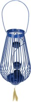 @home Cast Iron 3 - Cup Tealight Holder (Blue, Pack Of 1)
