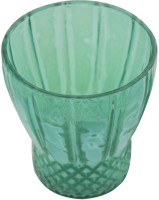 Sutra Decor Light Green Carving Votive Glass Candle Holder (Blue, Pack Of 1)