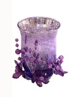 Devinez Glass 1 - Cup Candle Holder Set (Purple, Pack Of 1)