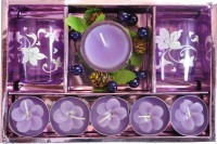 Tiedribbons Aluminium, Glass Tealight Holder Set (Purple, Pack Of 1)