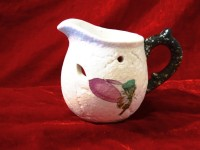 POOJA GHAR Ceramic Tealight Holder (White, Pack Of 1)