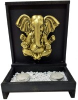 Fabionic 3D Ganesha Single T-Light Wooden 2 - Cup Tealight Holder (Black, Pack Of 1)