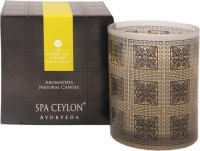 Spa Ceylon Luxury Ayurveda Ceylon Tea & Ylang Home Aroma Blend Natural Candle (Black, Pack Of 1)