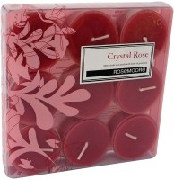 Rosemoore Scented Tea Lights - Crystal Rose Candle (Multicolor, Pack Of 9)