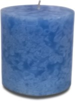 Pride & Joy Arts Cloud Effect Pillar Candle (Blue, Pack Of 1)