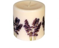 Silverlight Lavender Scented Designer Pillar Candle (Beige, Pack Of 1)