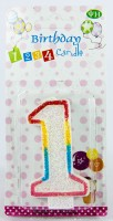 The Souq My First Birthday Number Lite Candle (Multicolor, Pack Of 1)