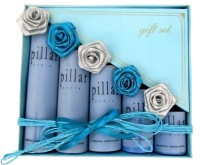 Luxury Gifts By Nikki Pillar Candle (Blue, Pack Of 5)