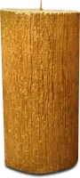 Pride & Joy Arts Tree Texture (Big) Candle (Gold, Pack Of 1)