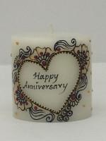 Tvish Candles Tvish Decorative Gift-Happy Anniversary Candle (White, Pack Of 1)