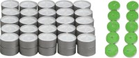 Rasmy Candles White Tealight 50pcs & Jasmine Scented Tealight 10 Pc Combo Candle (White, Green, Pack Of 60)