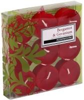 Rosemoore Scented Tea Lights - Bergamot & Geranium Candle (Multicolor, Pack Of 9)