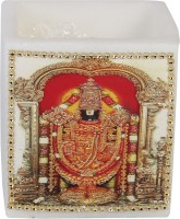 Artistique Traditional Tanjore Ganpati Candle (Multicolor, Pack Of 1)