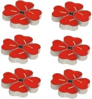 Skycandle Heart Shaped Candle (Red, Pack Of 24)