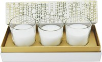 Sixthsense Premium Scented Shot Glass Candle (White, Pack Of 3)