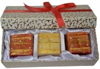 Tvish Candles Valentine Gift Set -Dori D'Montes 2x2x2 Box Set Candle (Red, Beige, Pack Of 3)
