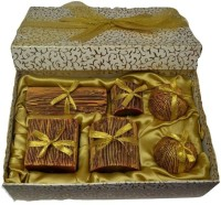 Tvish Candles Enigma Box Set Candle (Brown, Pack Of 6)