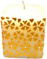 Tvish Candles Floral Rhapsody Candle (White, Pack Of 1)