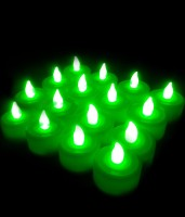 Grace Gully Set Of 2 Tea Light Diya's Candle (Green, Pack Of 12)