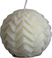 Ekam Chrismas Ball White Candle (White, Pack Of 1)