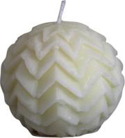 Ekam Chrismas Ball White Candle (White, Pack Of 1)