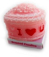Smartkshop Perfumed Heart Shape Candle (Pink, Pack Of 1)