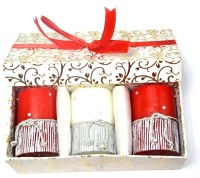 Tvish Candles Valentine Gift Set -Starry Night 2x3 Box Set Candle (White, Red, Pack Of 3)