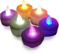 Skycandle Pack Of 6 Multicolor LED Tealight Candle (Multicolor, Pack Of 6)