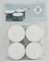 Sixthsense Jumbo Tealight White Unscented Candle (White, Pack Of 4)