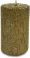 Pride & Joy Arts Mini Tree Texture Candle (Gold, Pack Of 1)