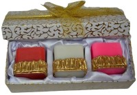 Tvish Candles Valentine Gift Set -Whispering Woods 2x2x2 Box Set Candle (Multicolor, Pack Of 3)