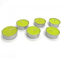Indian Reverie Patchouli Scented Tea Lights Candle (Green, Pack Of 6)