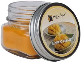 Artistique 3 Oz Round Mason Jar (Mango Papaya) Candle (Purple, Pack Of 1)