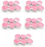 Indian Reverie Jasmine Scented Tea Lights Candle (Pink, Pack Of 30)