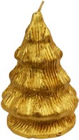 The Candle Shop Christmas Candle (Gold, Pack Of 1)