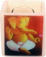 Artistique Traditional Ganpati Hurricane Digital Candle (Multicolor, Pack Of 1)
