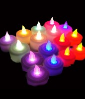 Grace Gully Set Of 2 Tea Light Diya's Candle (Multicolor, Pack Of 12)