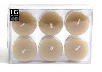 Hosley H63271 Candle (Brown, Pack Of 6)