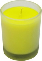 Aroma India Frosted Votive Candle (Yellow, Pack Of 1)