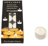 Skycandle 4 Hr Burning Tea Light Candle (White, Pack Of 10)