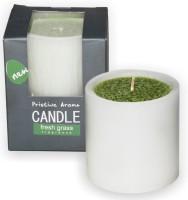 DECO Aro Fresh Grass Pillar D/C Wax - 7x7 Cm Candle (Green, Pack Of 1)