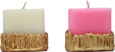 Tvish Candles Decorative Gift SetTwo Whispering Woods Candle (Pink, White, Pack Of 2)