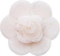 Rasmy Candles Floating Rose Flower Big White Pack Of 2 Candle (White, Pack Of 2)