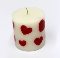 Tvish Candles Valentine Gift -Queen Of Hearts Candle (White, Red, Pack Of 1)