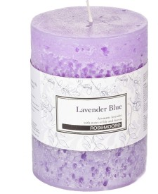 Rosemoore Scented Pillar - Lavender Blue Candle (Blue, Pack Of 1)