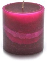 Pride & Joy Arts Waves Scented Rose Candle (Pink, Brown, Pack Of 1)