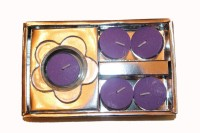 Fragrance Concoction Lavender Fragrance Tealight With Stand Candle (Purple, Pack Of 1)