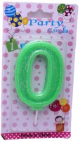 Funcart Glitter 0 Candle (Green, Pack Of 1)