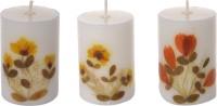 Udavi Auroshikha Agarbathies Perfumed Candles (752 Gm, White) - Pack Of 3 With Free Basket Candle (White, Pack Of 1)